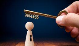 Coach has a key to success - motivation concept