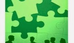 Puzzle pieces with people