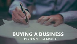 buying a business in a competitive market
